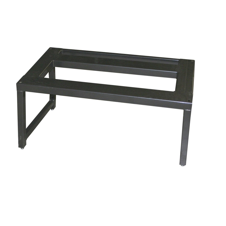 chaise de support pour po le encastrer en t le invicta. Black Bedroom Furniture Sets. Home Design Ideas