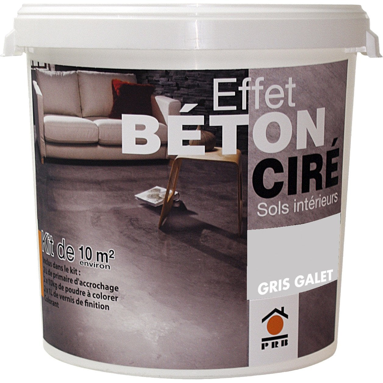b ton effet cir gris galet prb 10m leroy merlin. Black Bedroom Furniture Sets. Home Design Ideas