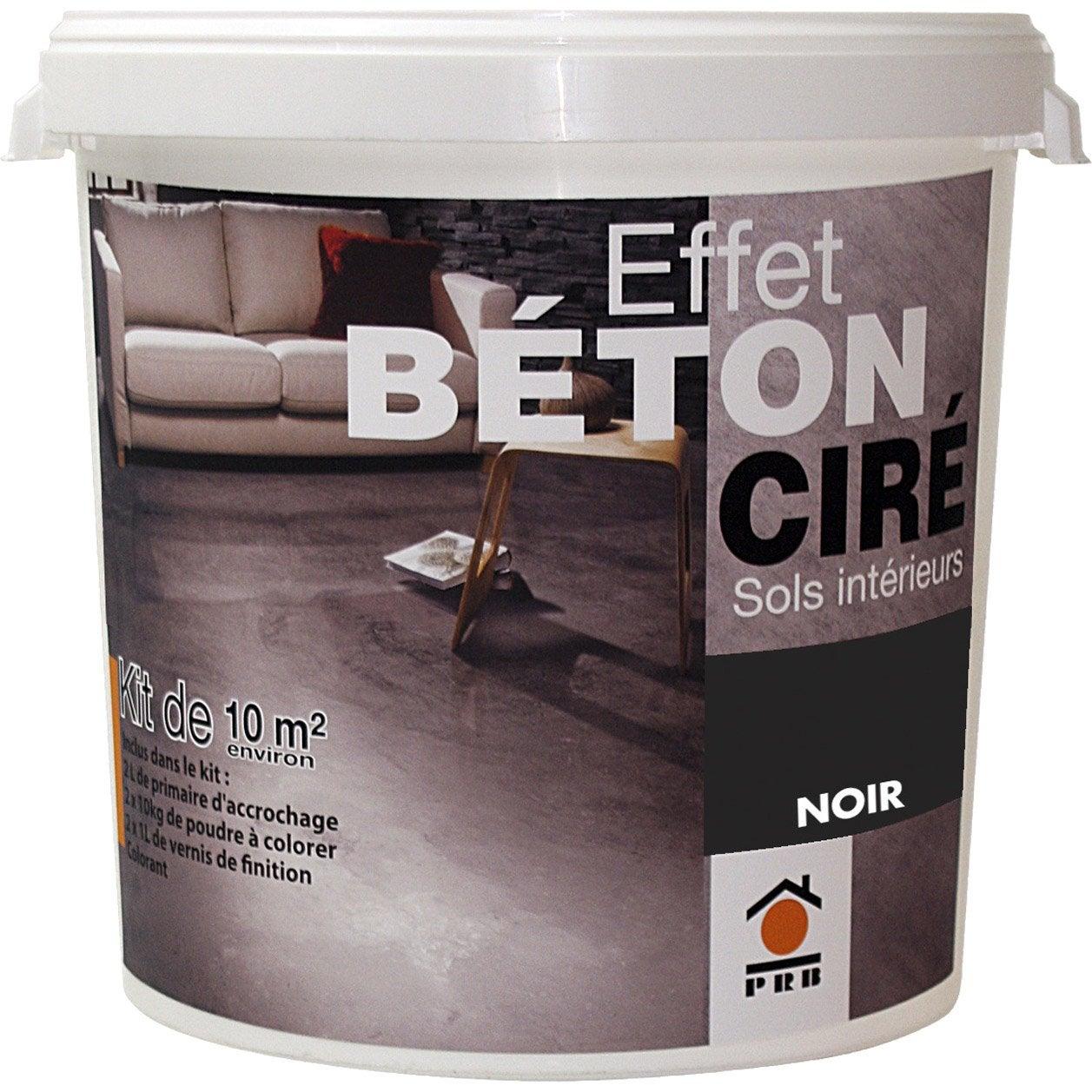 Béton à effet ciré gris smoke PRB, 10m² | Leroy Merlin