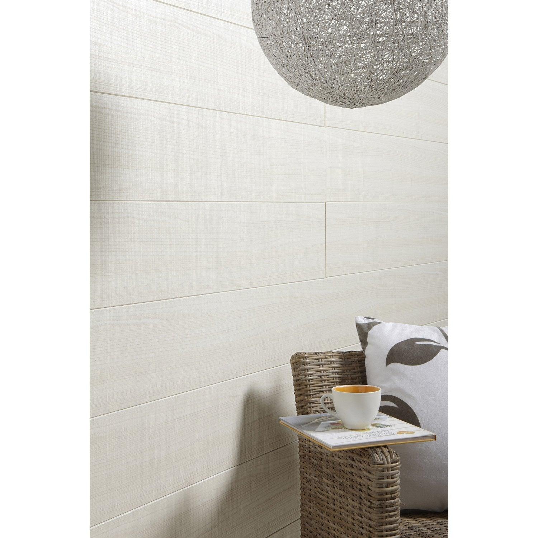 lambris mdf rev tu bross fr ne blanc artens x cm ep 8 mm leroy merlin. Black Bedroom Furniture Sets. Home Design Ideas