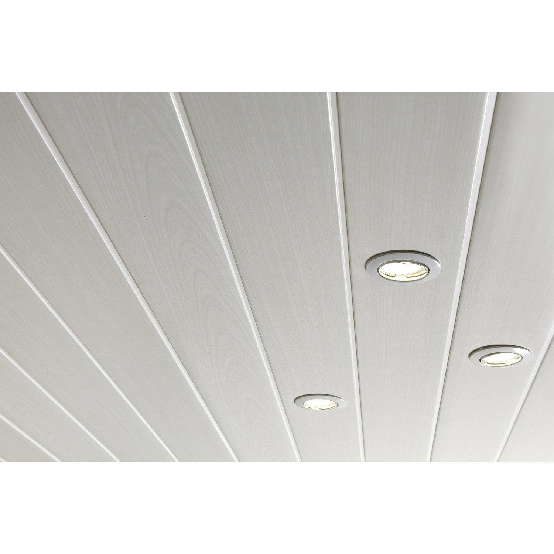 Lambris pvc blanc c rus artens x cm x ep 8 mm leroy merlin - Latte pvc pour plafond ...