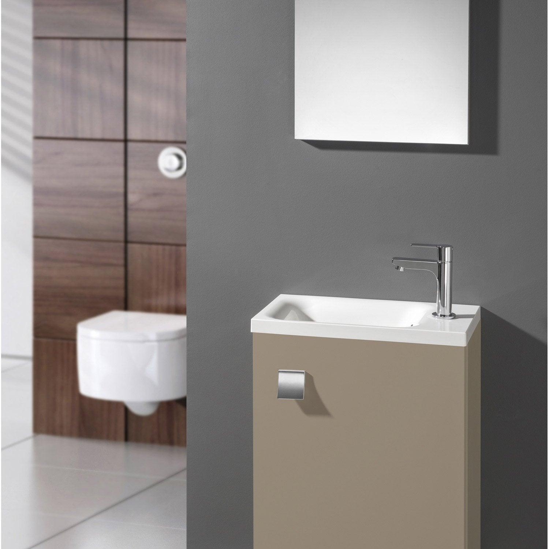 Meuble lave mains avec miroir gris dor n 5 coin d 39 o - Leroy merlin meuble lave main ...