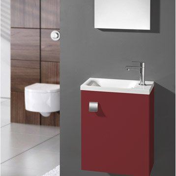 meuble lave mains avec miroir coin d 39 o rouge rouge n 3 leroy merlin. Black Bedroom Furniture Sets. Home Design Ideas