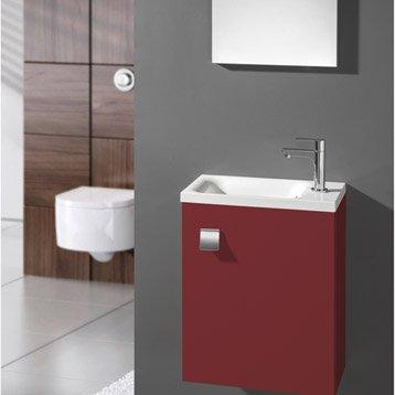 meuble lave mains avec miroir coin d 39 o rouge rouge n 3 leroy merlin. Black Bedroom Furniture Sets. Home Design Ideas