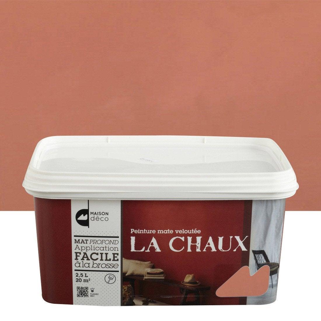 Peinture d corative la chaux maison deco brique 2 5 l leroy merlin - Enduit chaux leroy merlin ...