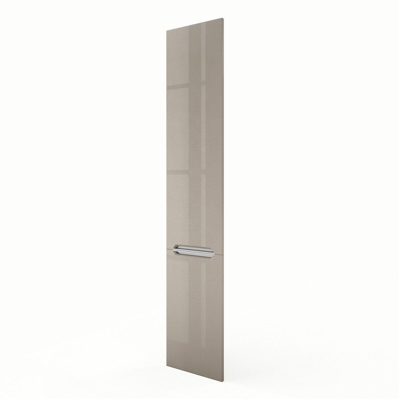 Porte colonne de cuisine taupe milano x cm for Colonne cuisine 40 cm