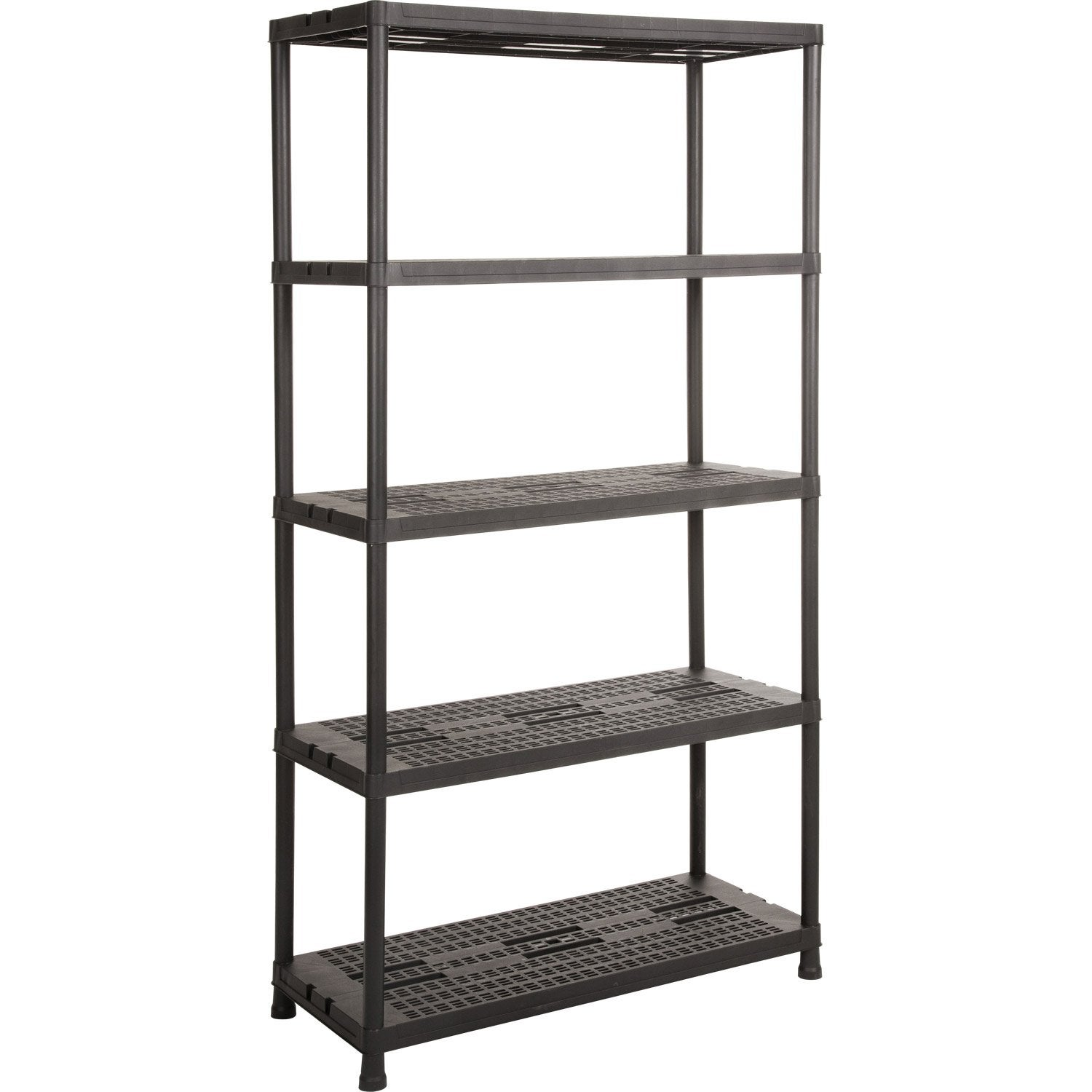 Etag re r sine 5 tablettes noir l90xh180xp40 cm leroy merlin - Etagere garage leroy merlin ...