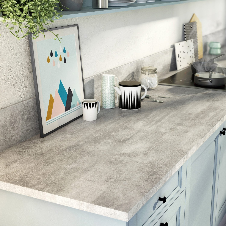 plan de travail stratifi effet tain mat x cm. Black Bedroom Furniture Sets. Home Design Ideas