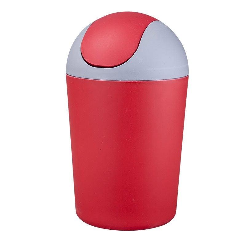 Poubelle de salle de bains 5 l rouge rouge n 4 steppy for Poubelle salle de bain leroy merlin