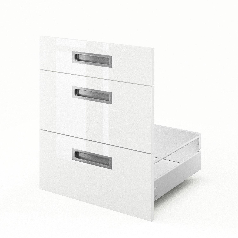 Tiroir sous vier de cuisine blanc 3dus60 play x h for Evier cuisine largeur 60 cm