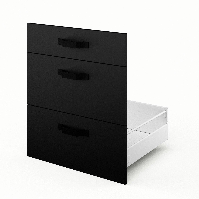 tiroir sous vier de cuisine noir 3dus60 mat edition x x cm leroy merlin. Black Bedroom Furniture Sets. Home Design Ideas