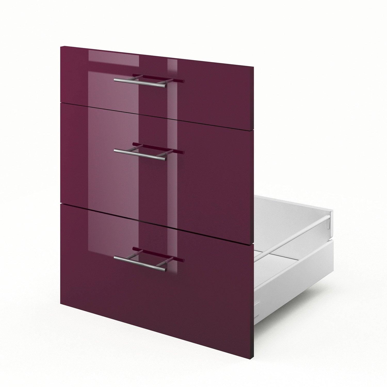 Tiroir sous vier de cuisine violet rio x x p for Evier 70 cm cuisine