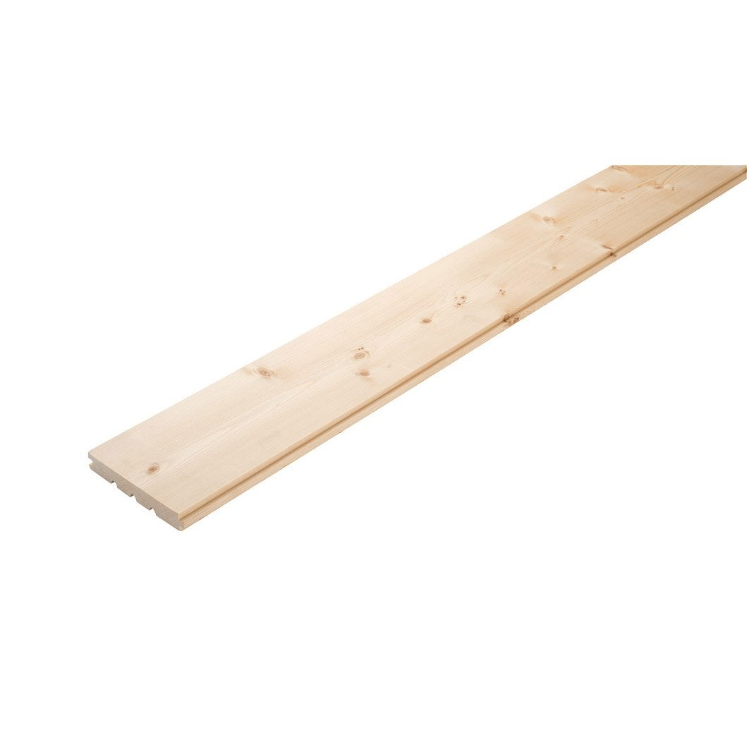 Plancher massif sapin x cm mm leroy merlin for Plancher lewis leroy merlin