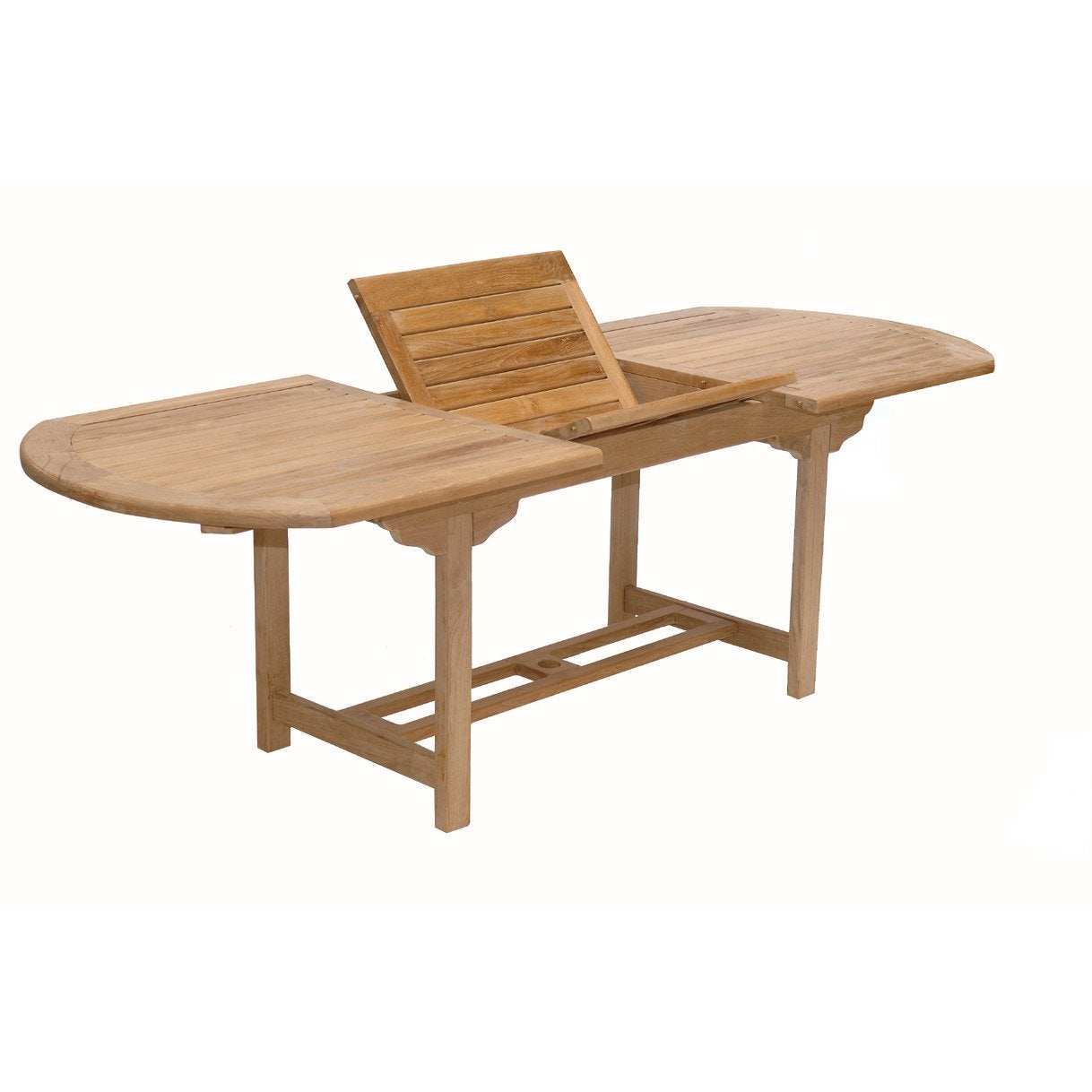 Table de jardin azur ovale naturel 8 personnes leroy merlin for Table de jardin 8 personnes