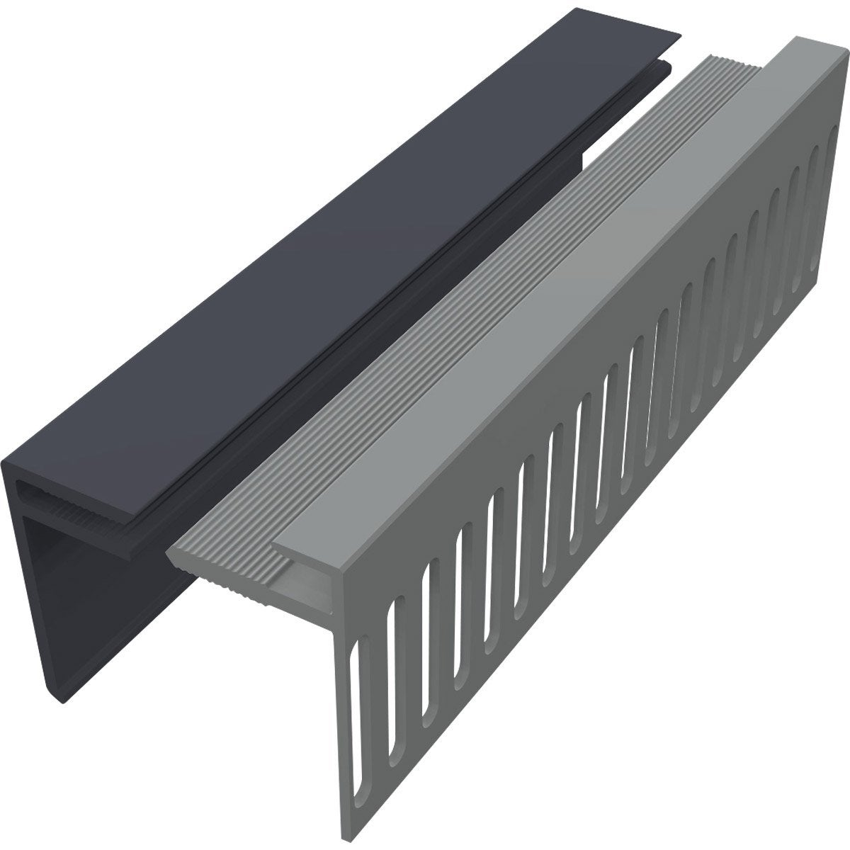Awesome profil de dpart pvc freefoam solid gris anthracite for Pica lavabo leroy merlin