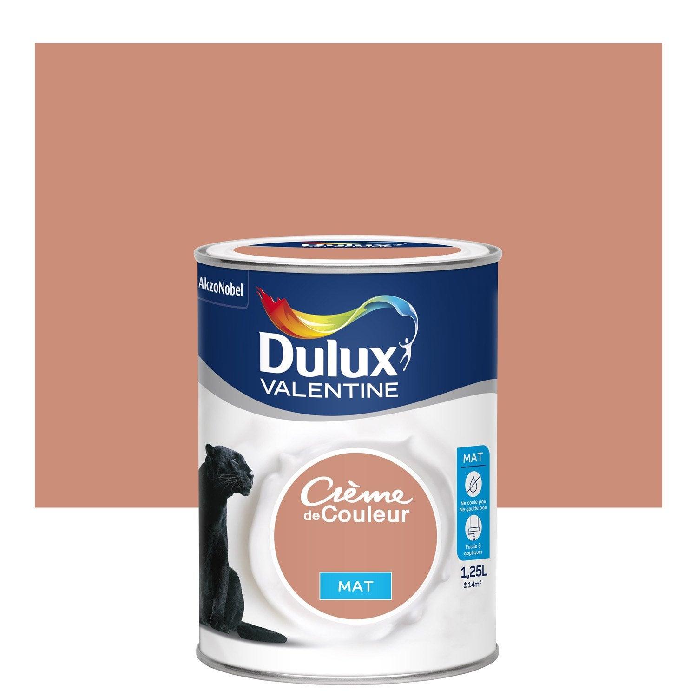 peinture cuivre rose dulux valentine cr me de couleur mat