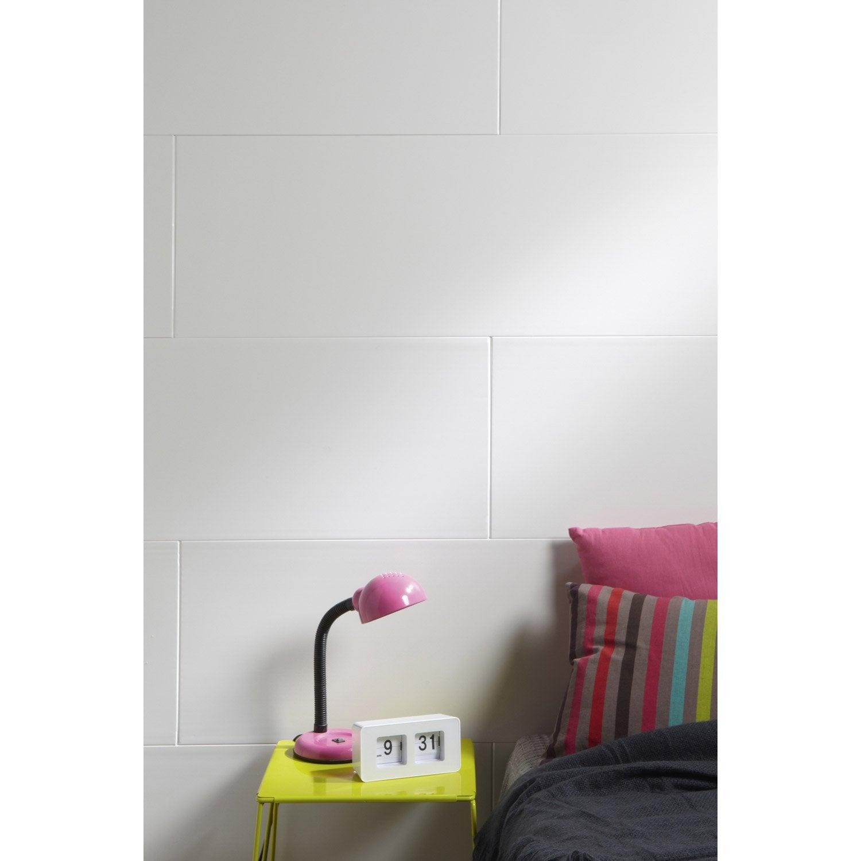 lambris pvc blanc artens x cm x ep 8 mm leroy merlin. Black Bedroom Furniture Sets. Home Design Ideas