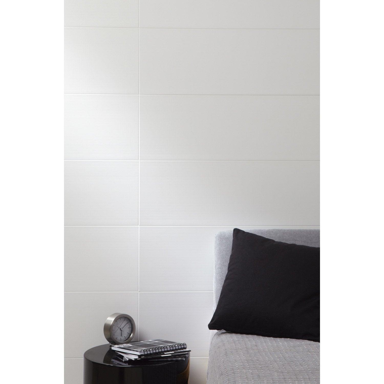Plan Chambre Avec Suite Parentale : Lambris PVC blanc mat Artclip ARTENS, L120cm x l25cm, ép