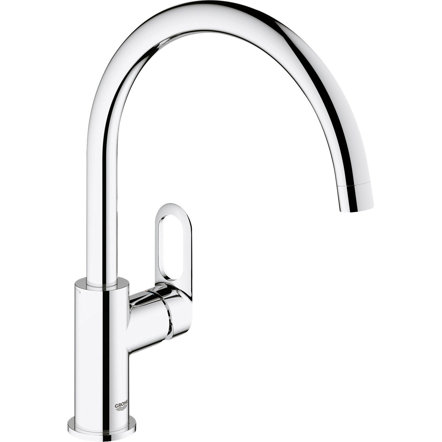 mitigeur de cuisine chrom 233 grohe start loop leroy merlin