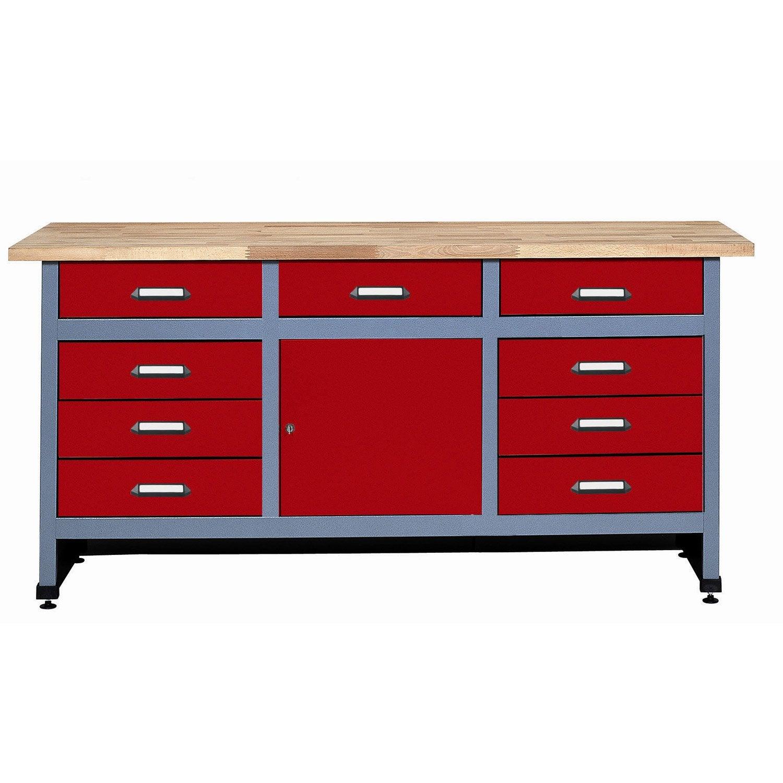 etabli de m canicien kupper rouge leroy merlin. Black Bedroom Furniture Sets. Home Design Ideas