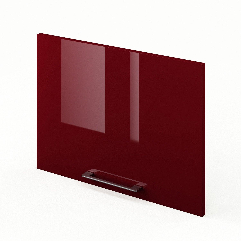 Porte sur hotte de cuisine rouge griotte x cm for Porte 60 x 30