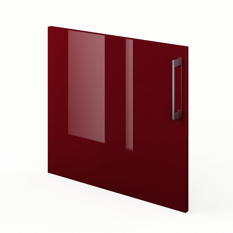 Porte de cuisine rouge griotte x cm leroy for Porte 60 x 50