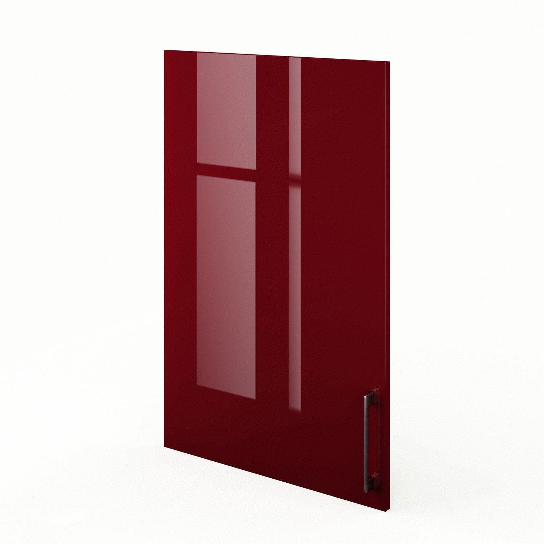 Porte de cuisine rouge f60 92 griotte l60 x h92 cm leroy merlin - Leroy merlin porte de cuisine ...