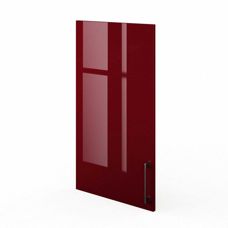 porte de cuisine rouge griotte l50 x h92 cm leroy merlin