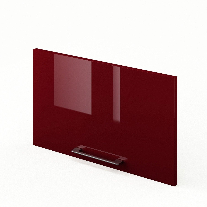 Porte de cuisine rouge f60 35 griotte l60 x h35 cm for Porte de cuisine leroy merlin
