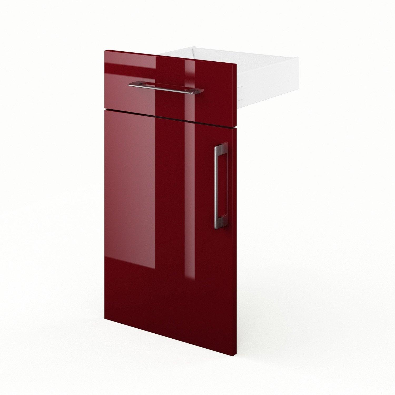 porte et tiroir de cuisine rouge griotte l40 x h70 x p