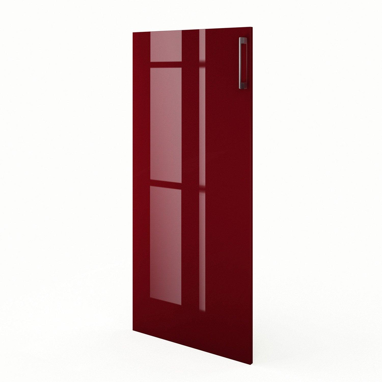 Porte 1 2 colonne de cuisine rouge f60 130 griotte l60 x for Porte 60 x 180