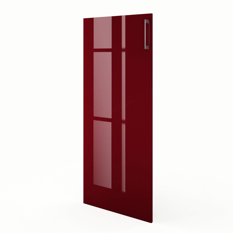 Porte 1 2 colonne de cuisine rouge griotte x for Porte 60 x 50