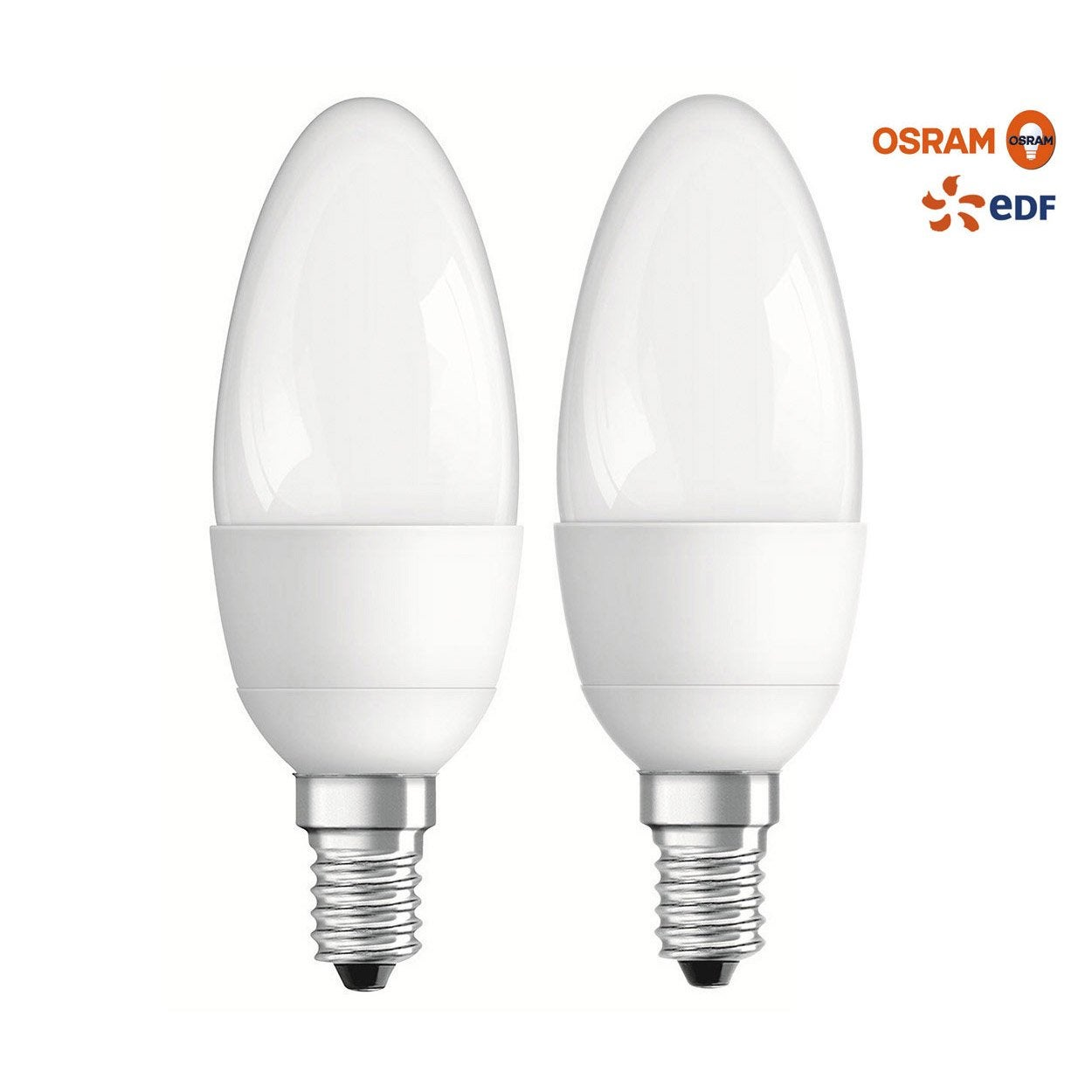 ampoule flamme led 40w osram e14 lumi re chaude env 2700k leroy merlin. Black Bedroom Furniture Sets. Home Design Ideas