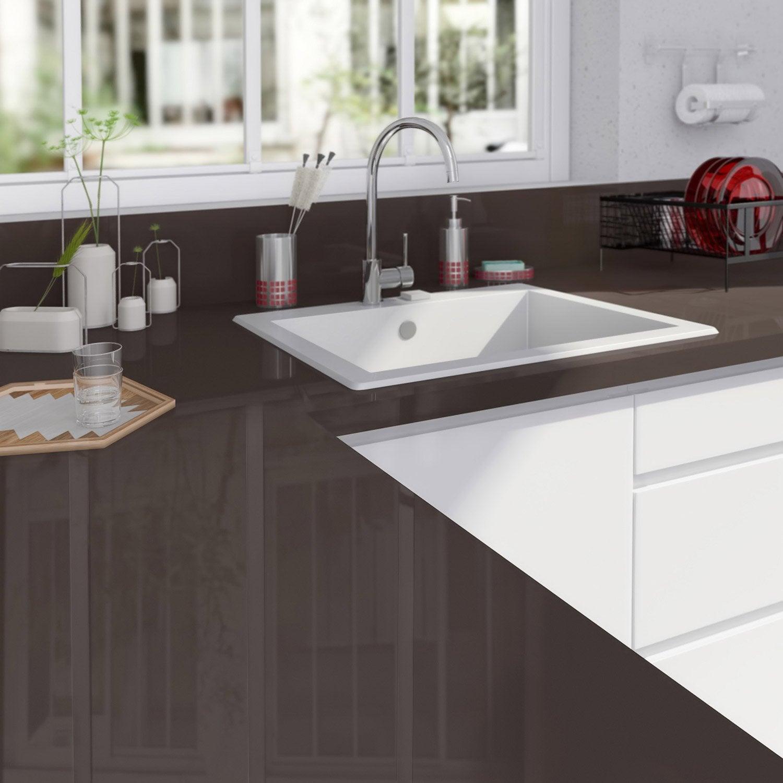 plan de travail droit stratifi brun chocolat n 1 300 x 65 cm p 38 mm leroy merlin. Black Bedroom Furniture Sets. Home Design Ideas