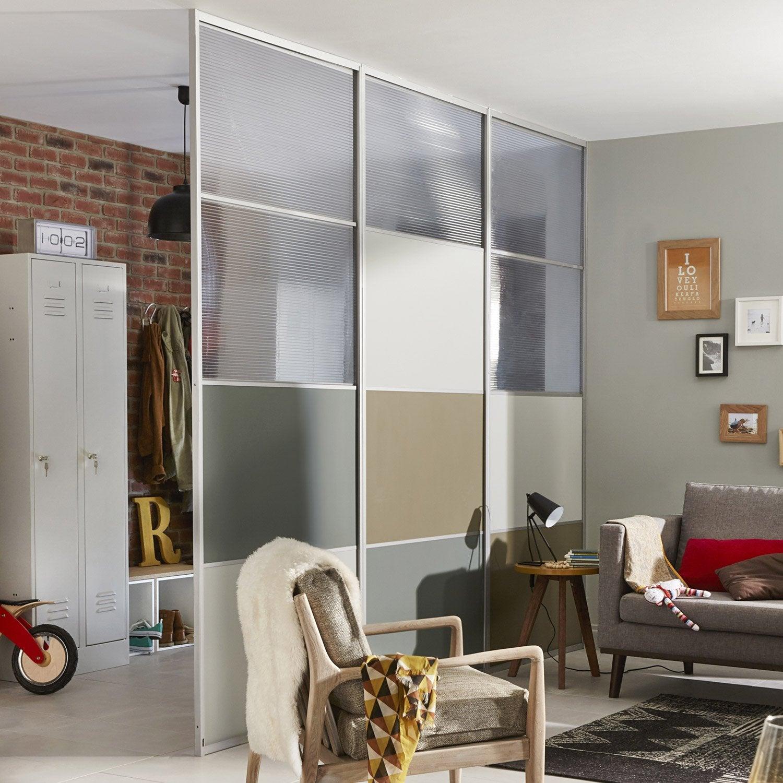 structure pour cloison amovible effet aluminium leroy. Black Bedroom Furniture Sets. Home Design Ideas