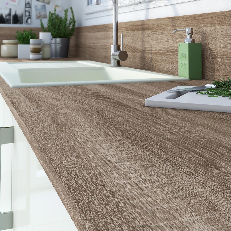 plan de travail stratifi effet ch ne havane mat x cm mm leroy merlin. Black Bedroom Furniture Sets. Home Design Ideas