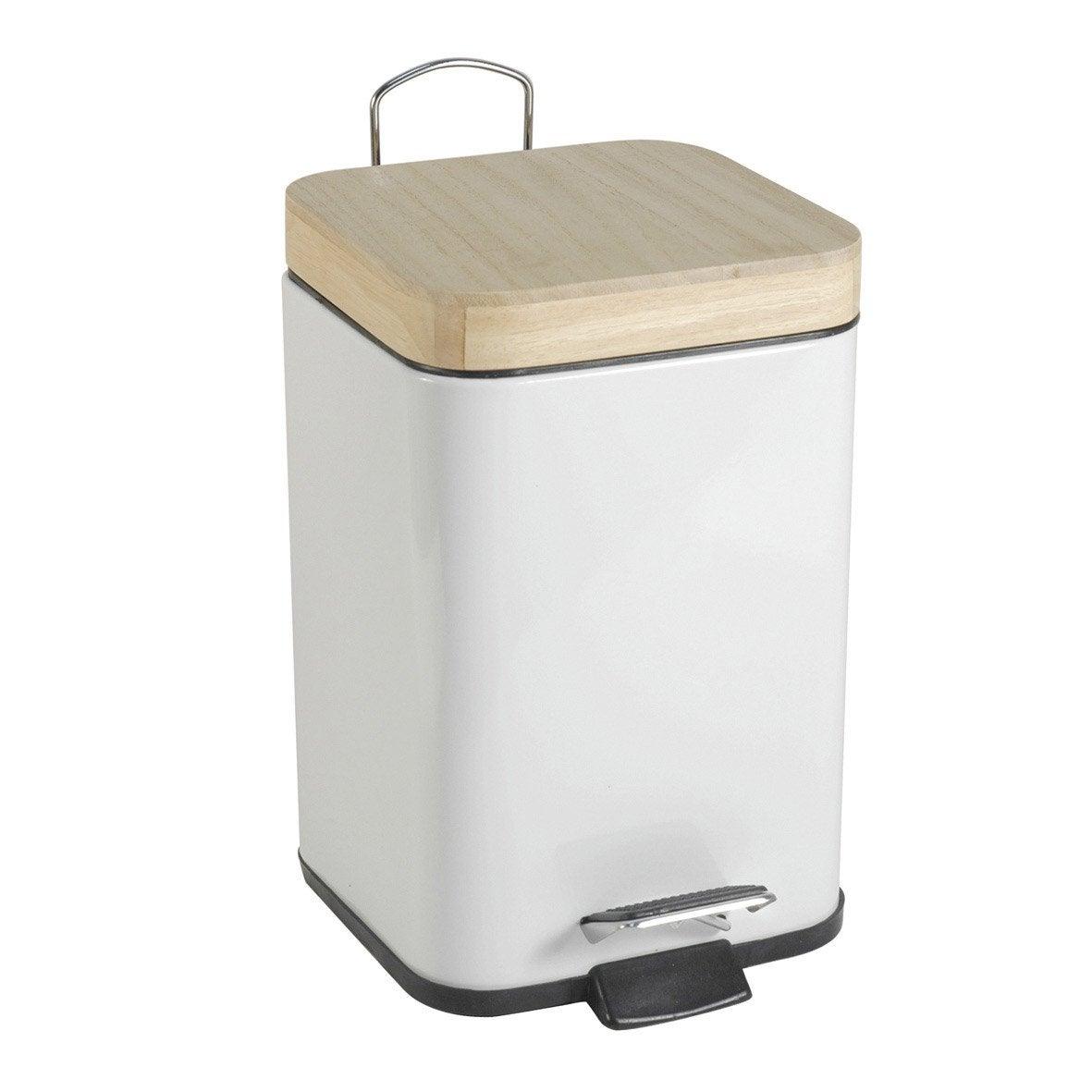 Poubelle de salle de bains 3 l blanc blanc 0 sensea scandi for Alinea accessoires salle de bain
