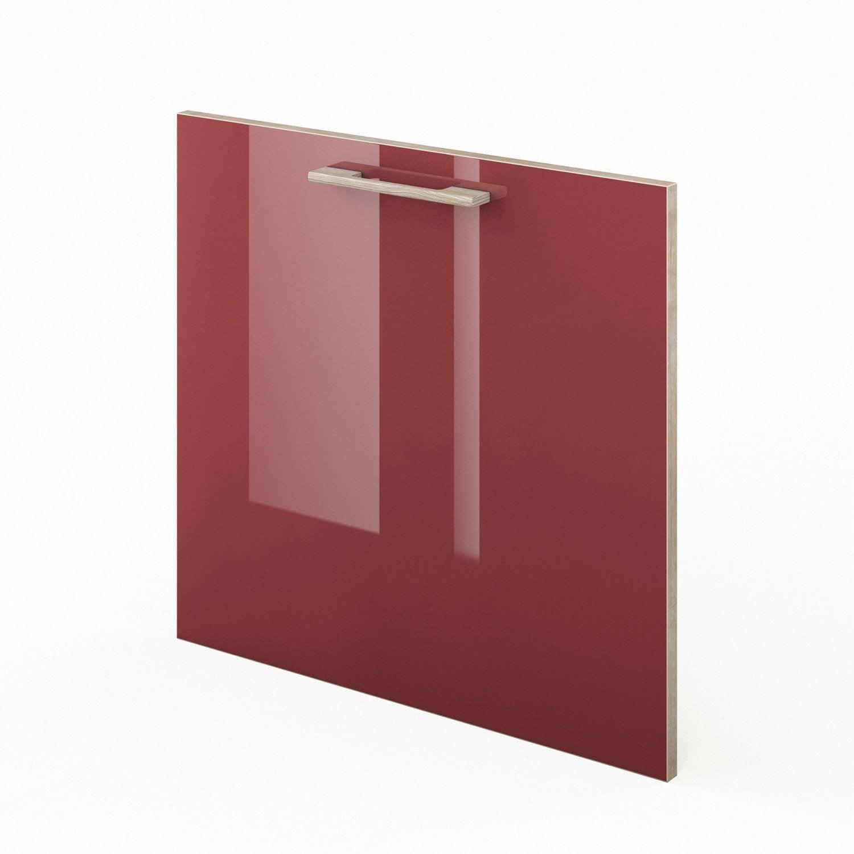 Porte lave vaisselle de cuisine rouge fdsh60 grenade for Decoration porte lave vaisselle