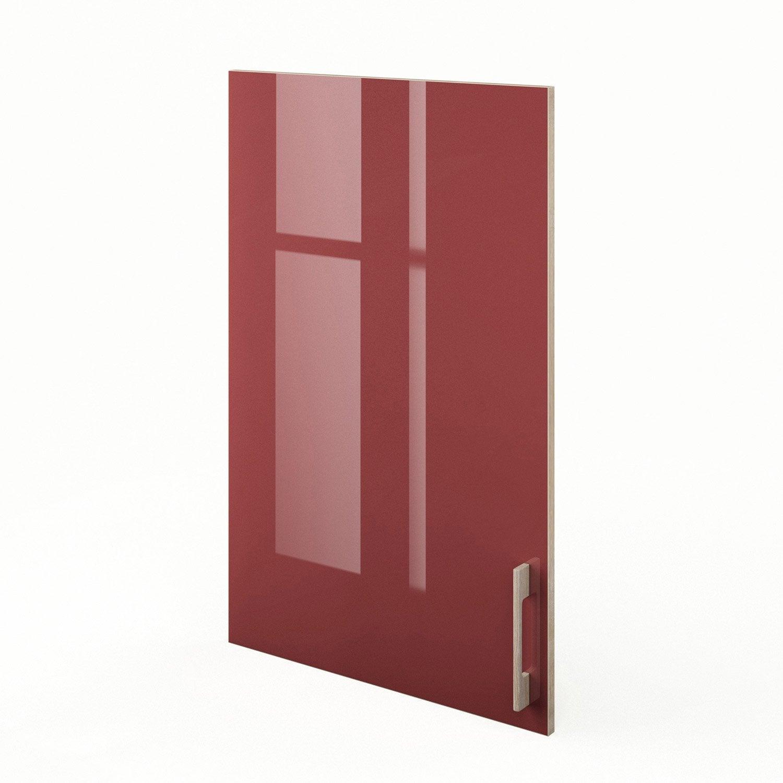 porte de cuisine rouge f60 92 grenade x cm. Black Bedroom Furniture Sets. Home Design Ideas