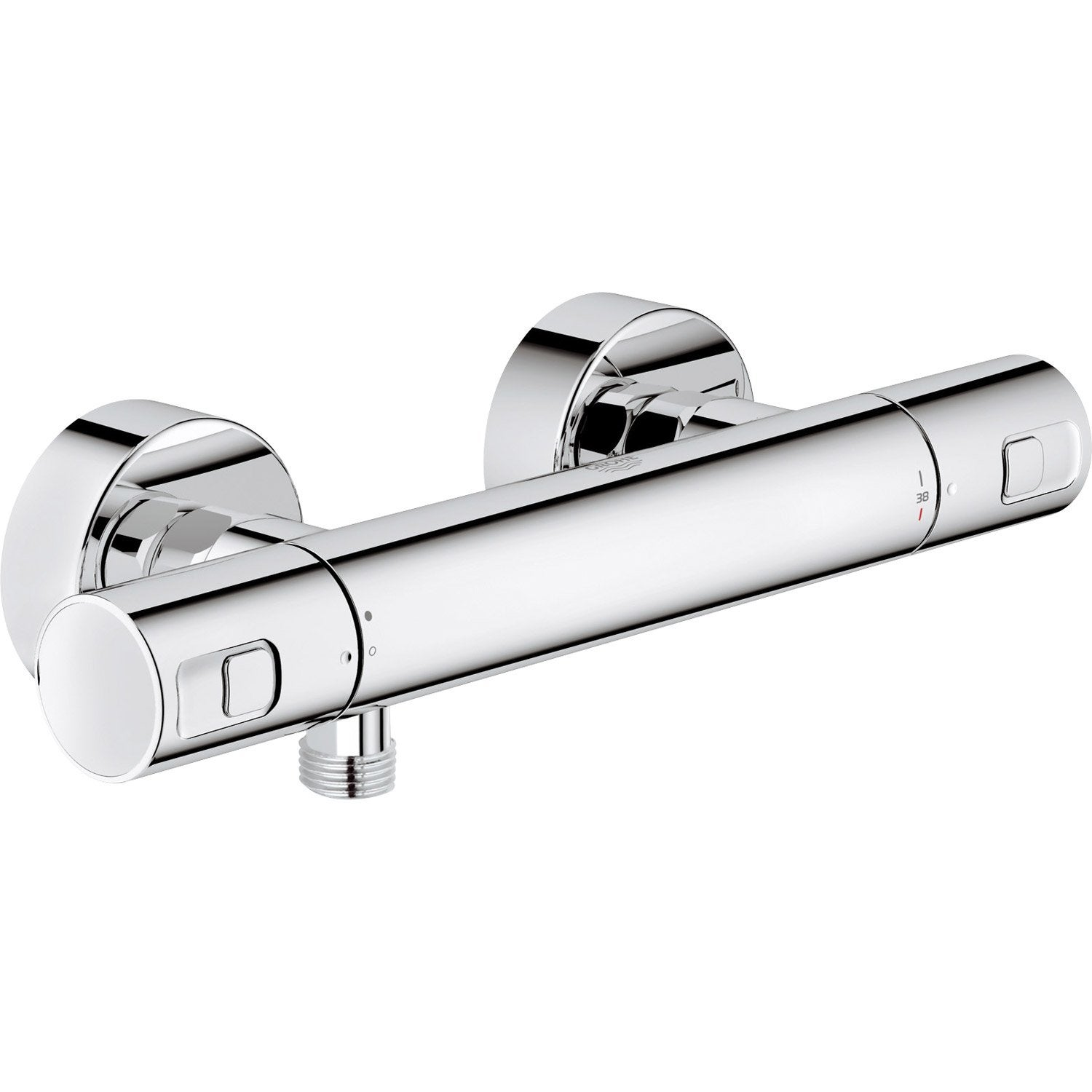 Mitigeur thermostatique de douche chrom grohe precision for Mitigeur grohe leroy merlin