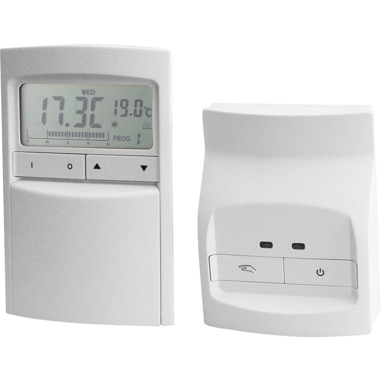 Thermostat programmable radio celcia crono 912 rf leroy - Leroy merlin thermostat ...