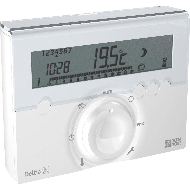 thermostat programmable sans fil delta dore deltia leroy merlin. Black Bedroom Furniture Sets. Home Design Ideas