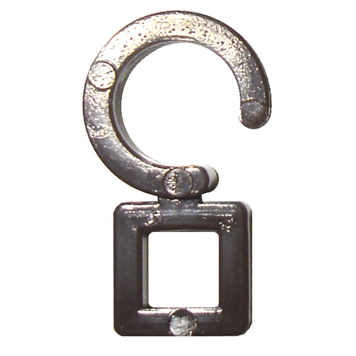 Agrafes pour tringle rideau inspire diam 28 mm plastique chocolat ler - Barre rideau leroy merlin ...