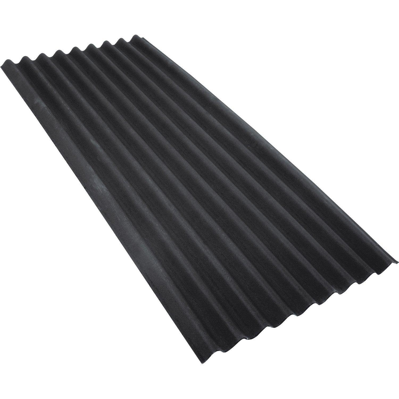 Plaque ondul e bitum e noir x 2m ondobitume - Toiture abri de jardin leroy merlin ...