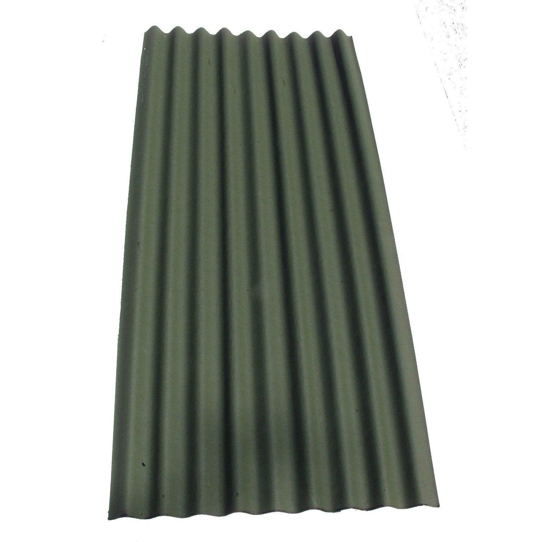 Plaque ondul e bitum e vert x 2m ondobitume - Plaque plastique leroy merlin ...