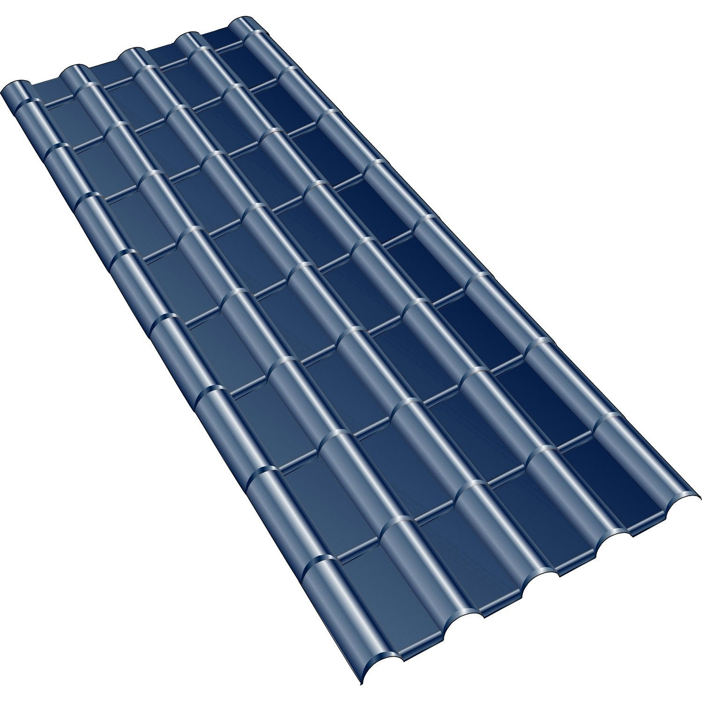 plaque imit tuile composite bleu ardoise first plast. Black Bedroom Furniture Sets. Home Design Ideas