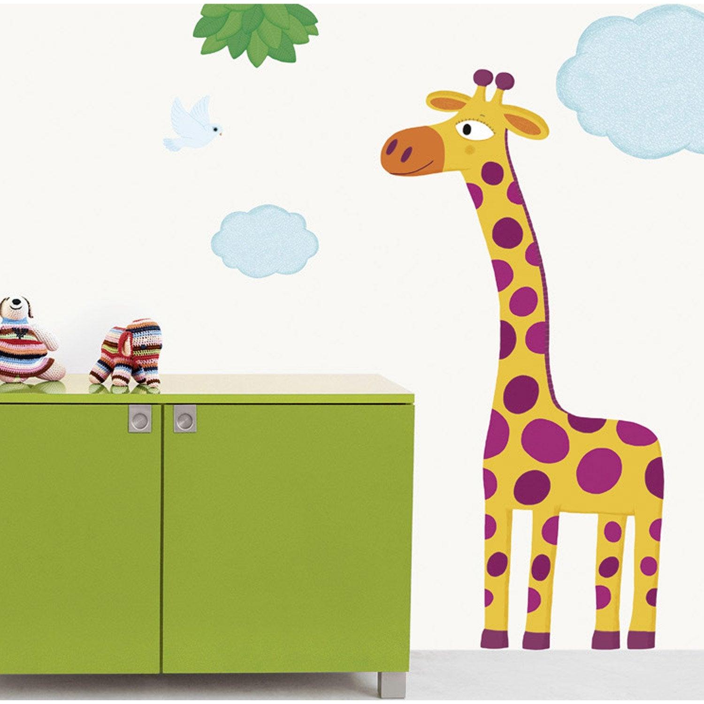 sticker grande girafe 49 cm x 69 cm leroy merlin. Black Bedroom Furniture Sets. Home Design Ideas
