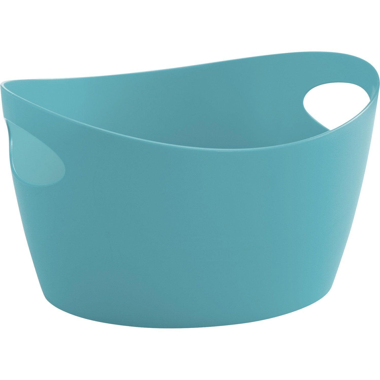 panier en plastique bleu atoll 4 botichelli leroy merlin. Black Bedroom Furniture Sets. Home Design Ideas