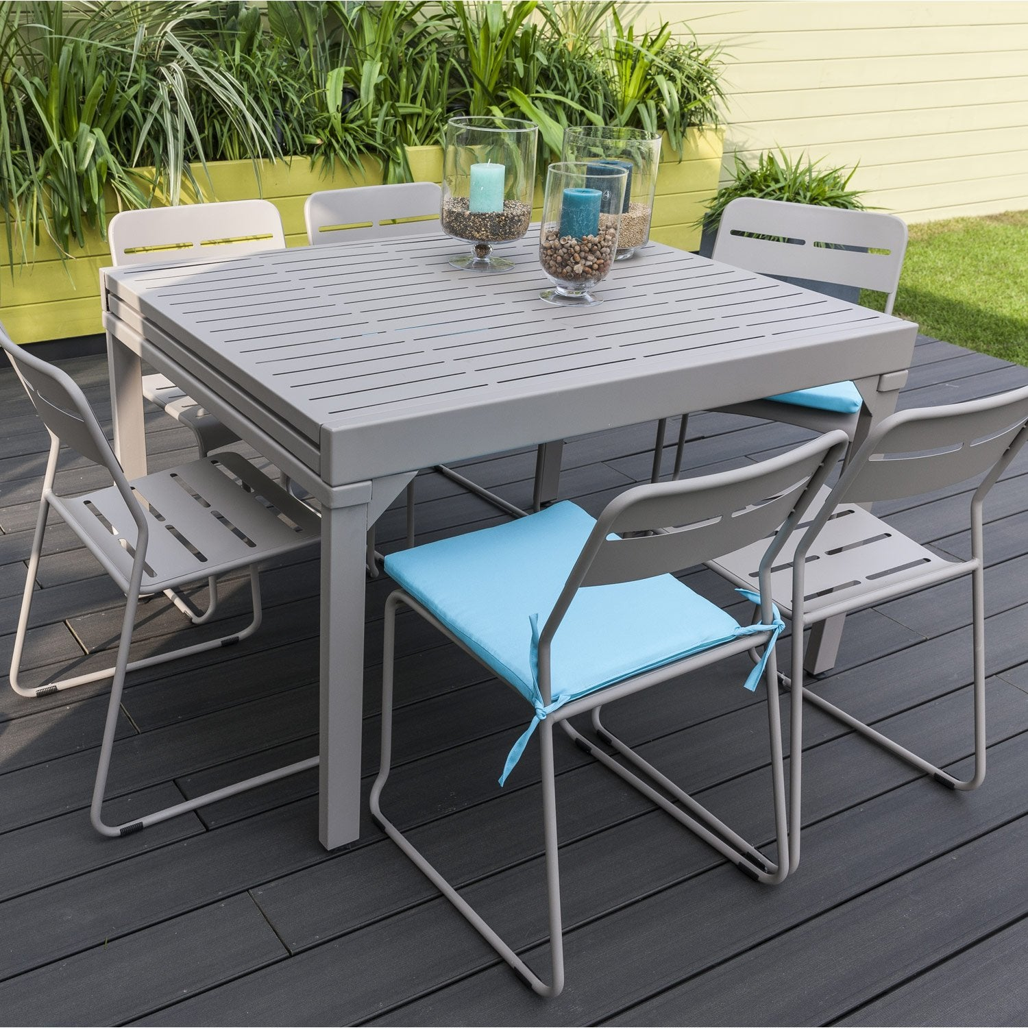 Table de repas halong taupe leroy merlin - Table rabattable leroy merlin ...