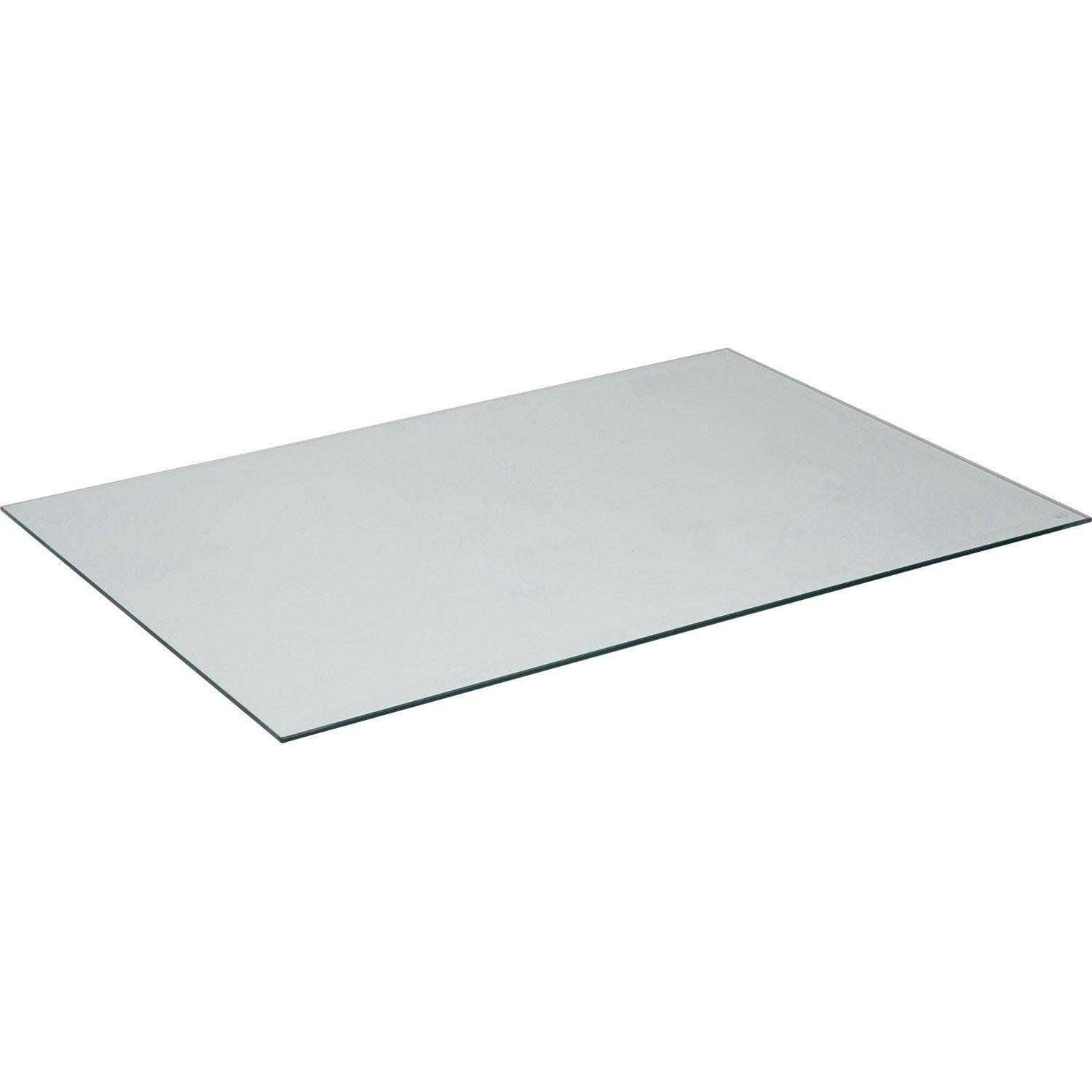 Plateau de table verre x cm x ep 8 mm leroy for Plateau en verre pour table basse